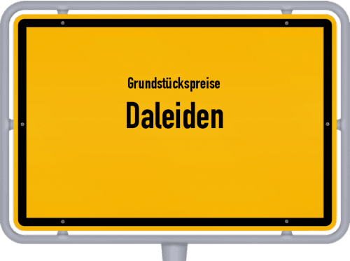 Grundstückspreise Daleiden 2019