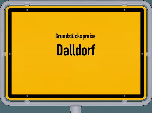 Grundstückspreise Dalldorf 2021
