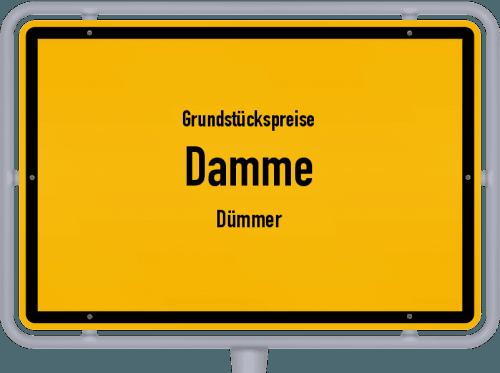 Grundstückspreise Damme (Dümmer) 2021
