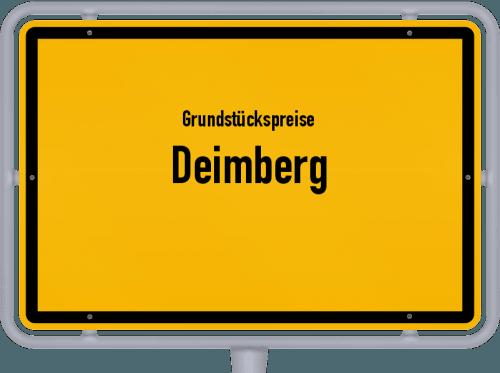 Grundstückspreise Deimberg 2019