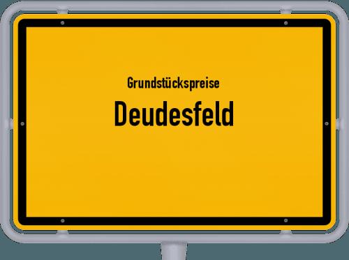 Grundstückspreise Deudesfeld 2019
