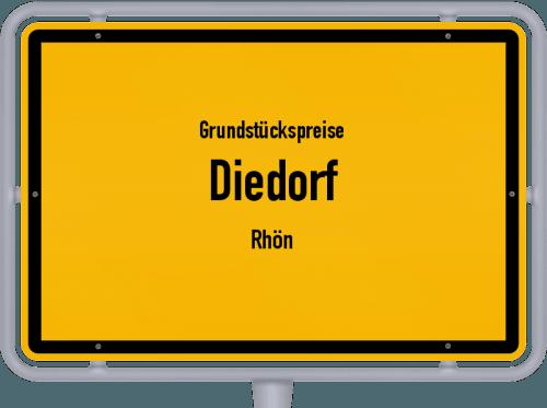 Grundstückspreise Diedorf (Rhön) 2019