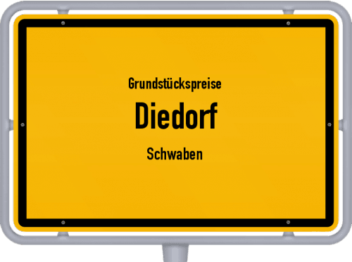 Grundstückspreise Diedorf (Schwaben) 2019