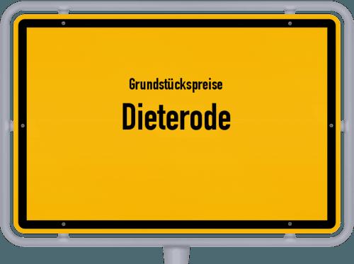 Grundstückspreise Dieterode 2019