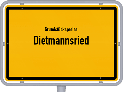 Grundstückspreise Dietmannsried 2019