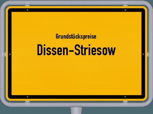 Grundstückspreise Dissen-Striesow 2021