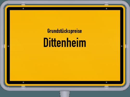 Grundstückspreise Dittenheim 2021