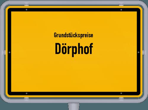Grundstückspreise Dörphof 2021