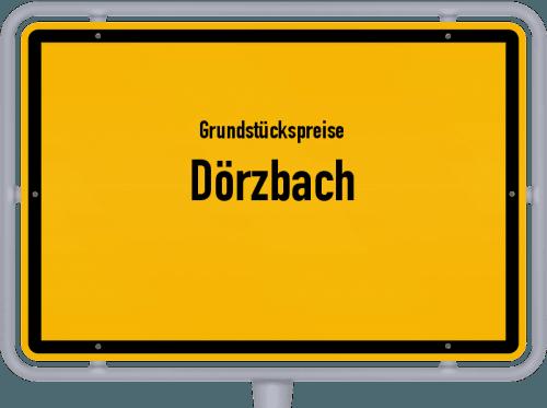 Grundstückspreise Dörzbach 2021