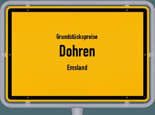 Grundstückspreise Dohren (Emsland) 2019