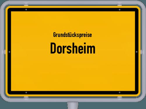 Grundstückspreise Dorsheim 2019