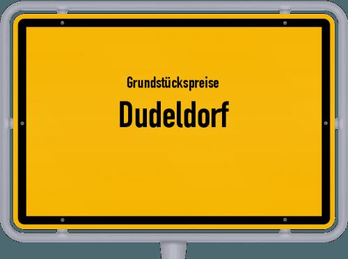 Grundstückspreise Dudeldorf 2019
