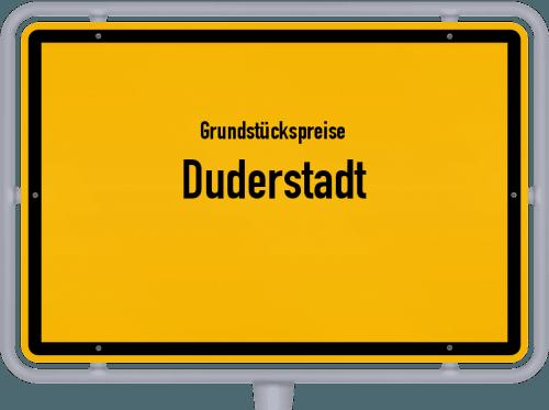 Grundstückspreise Duderstadt 2021