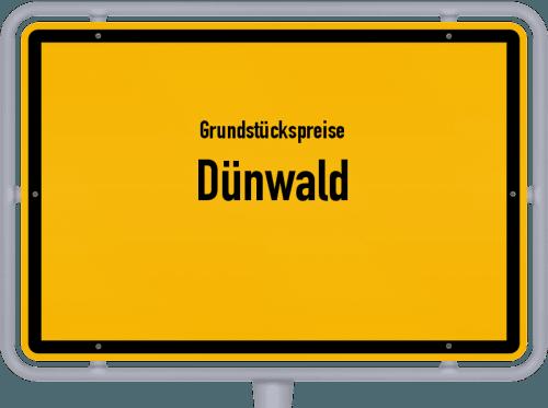 Grundstückspreise Dünwald 2019