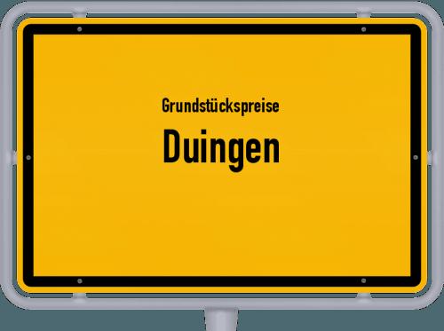 Grundstückspreise Duingen 2021