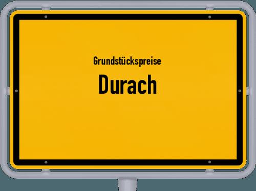 Grundstückspreise Durach 2019