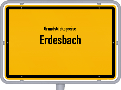Grundstückspreise Erdesbach 2019