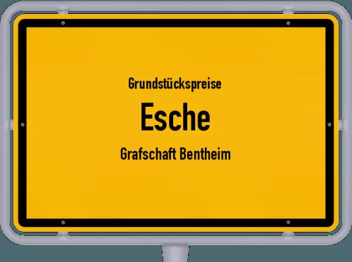 Grundstückspreise Esche (Grafschaft Bentheim) 2019