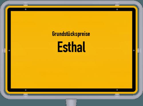 Grundstückspreise Esthal 2019