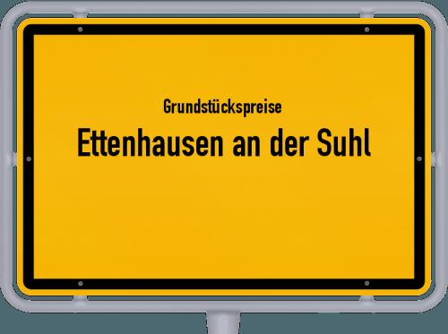 Grundstückspreise Ettenhausen an der Suhl 2019