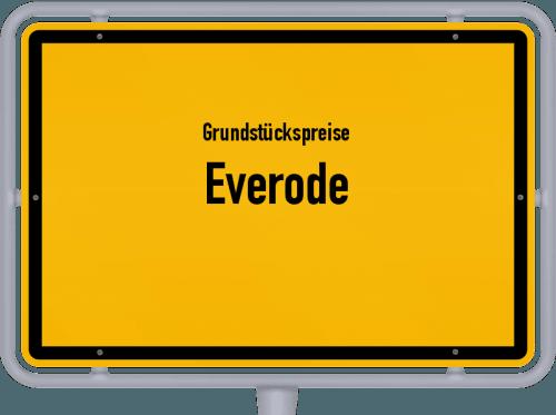 Grundstückspreise Everode 2021
