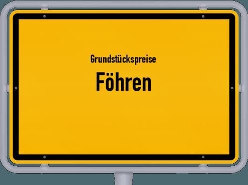 Grundstückspreise Föhren 2019