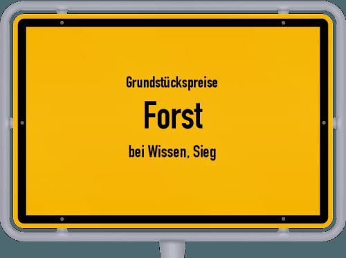 Grundstückspreise Forst (bei Wissen, Sieg) 2019