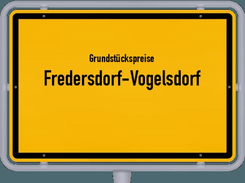 Grundstückspreise Fredersdorf-Vogelsdorf 2021