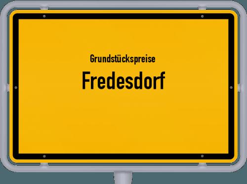 Grundstückspreise Fredesdorf 2021