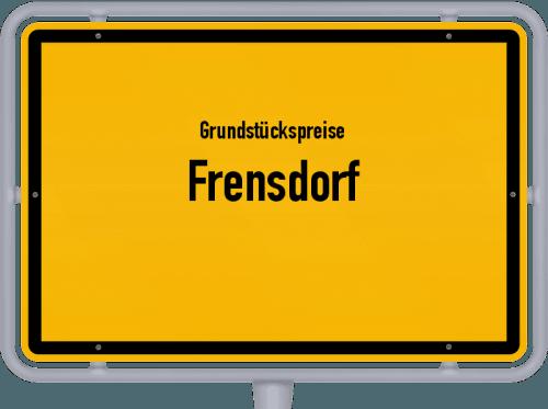 Grundstückspreise Frensdorf 2021