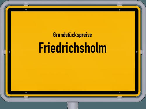 Grundstückspreise Friedrichsholm 2021