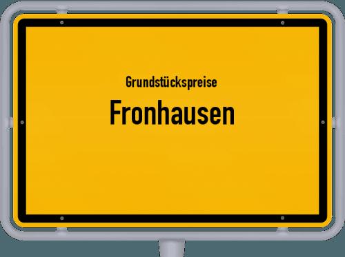 Grundstückspreise Fronhausen 2018
