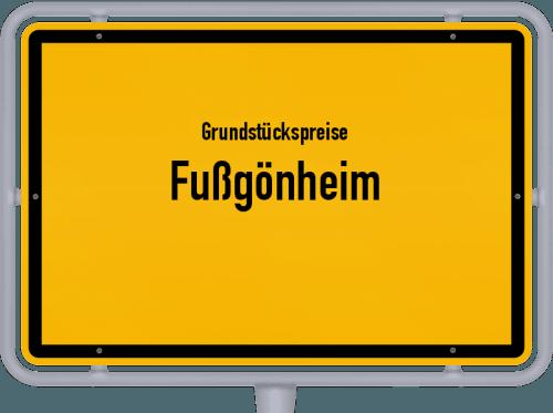 Grundstückspreise Fußgönheim 2019