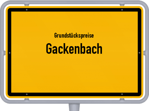 Grundstückspreise Gackenbach 2019