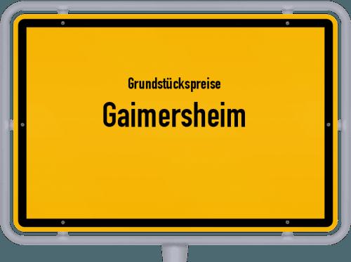 Grundstückspreise Gaimersheim 2019