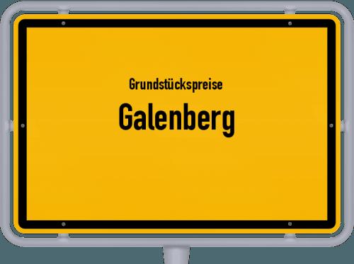 Grundstückspreise Galenberg 2019