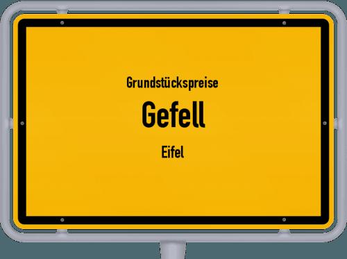 Grundstückspreise Gefell (Eifel) 2019