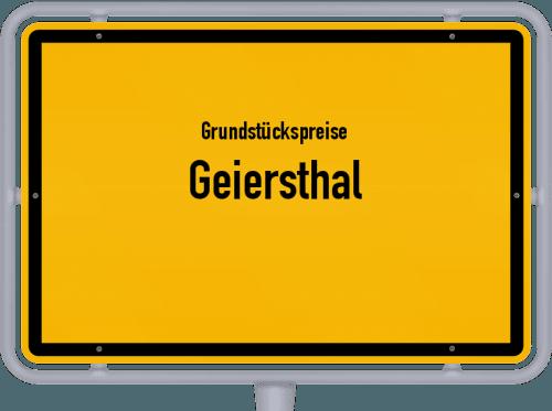 Grundstückspreise Geiersthal 2019