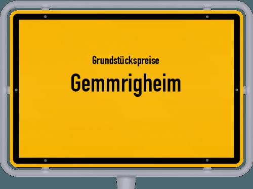 Grundstückspreise Gemmrigheim 2021
