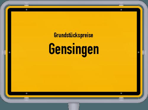 Grundstückspreise Gensingen 2019