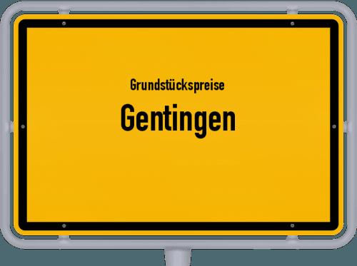 Grundstückspreise Gentingen 2019