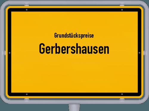 Grundstückspreise Gerbershausen 2019