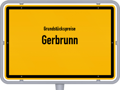 Grundstückspreise Gerbrunn 2021
