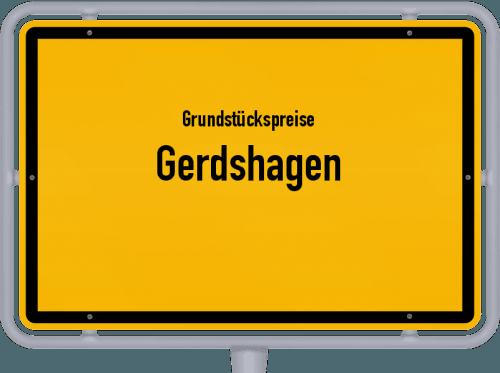 Grundstückspreise Gerdshagen 2021