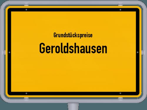 Grundstückspreise Geroldshausen 2019