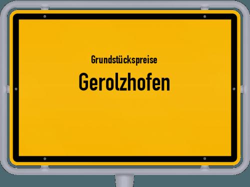 Grundstückspreise Gerolzhofen 2019