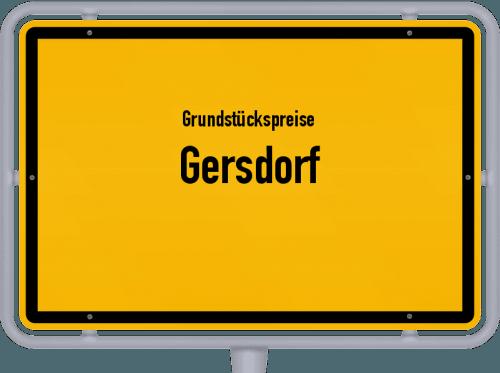 Grundstückspreise Gersdorf 2019