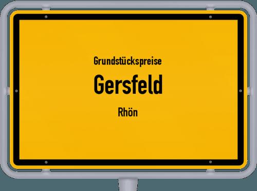 Grundstückspreise Gersfeld (Rhön) 2019