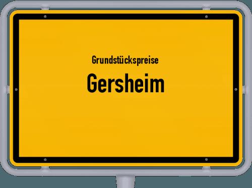 Grundstückspreise Gersheim 2020