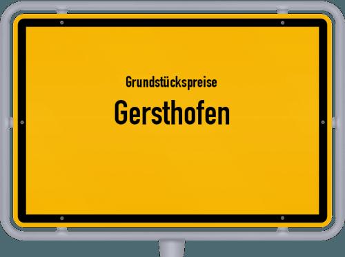 Grundstückspreise Gersthofen 2019